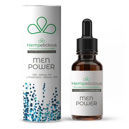 Hempelicious Men Power Amino Care CBD Oil