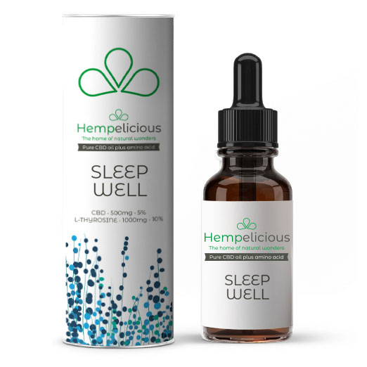 Hempelicious Sleep Well Amino Care CBD Oil